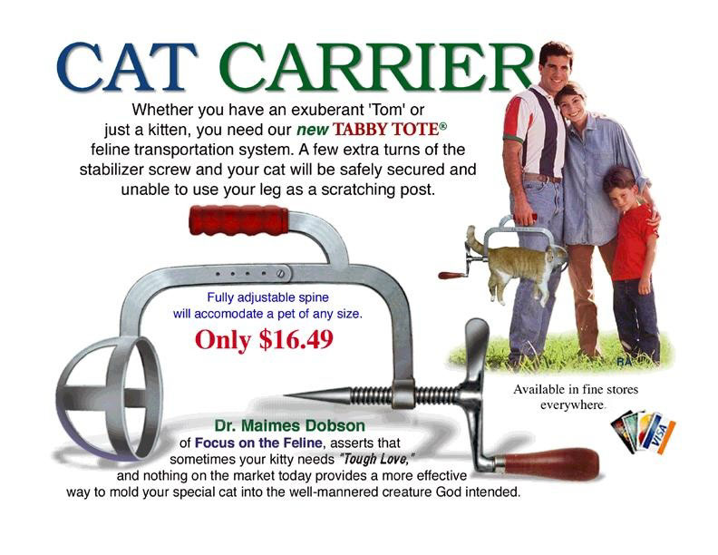 Cat Carrier (humor pic)